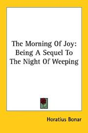 The morning of joy by Horatius Bonar