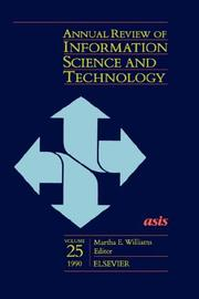 Annual Review of Information Science and Technology PDF