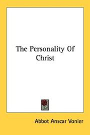 The Personality Of Christ PDF