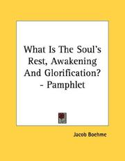 What Is The Soul's Rest, Awakening And Glorification? - Pamphlet PDF