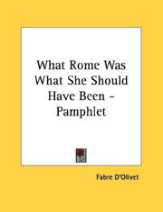 What Rome Was What She Should Have Been - Pamphlet PDF