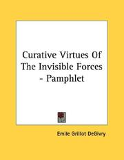 Curative Virtues Of The Invisible Forces - Pamphlet PDF