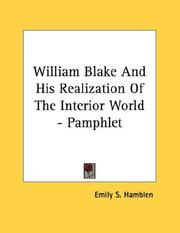 William Blake And His Realization Of The Interior World - Pamphlet PDF
