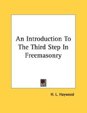 An Introduction To The Third Step In Freemasonry PDF