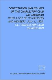 Constitution and by-laws of the Charleston Club (as amended)