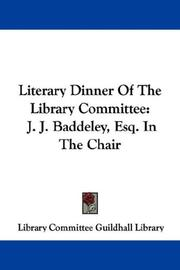 Literary Dinner Of The Library Committee PDF