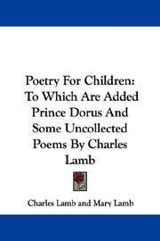 Poetry For Children by Mary Lamb