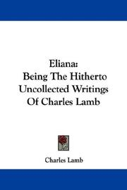 Cover of: Eliana by Charles Lamb
