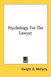 Psychology For The Lawyer PDF