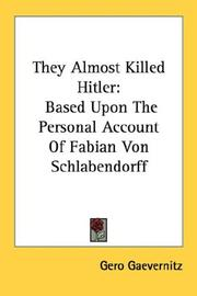They Almost Killed Hitler PDF
