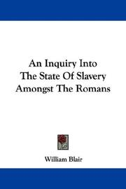 An inquiry into the state of slavery amongst the Romans PDF