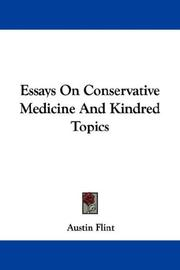 Essays On Conservative Medicine And Kindred Topics PDF