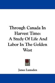 Through Canada in harvest time PDF