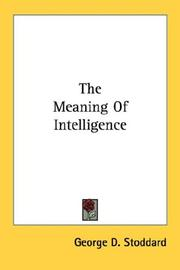 The meaning of intelligence PDF