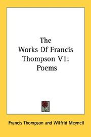 The Works Of Francis Thompson V1