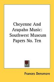 Cheyenne and Arapaho music by Frances Densmore