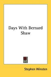 Days with Bernard Shaw by Stephen Winsten