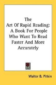 The art of rapid reading by Walter B. Pitkin