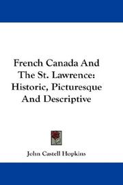 French Canada And The St. Lawrence PDF
