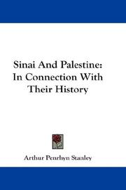 Sinai and Palestine by Stanley, Arthur Penrhyn