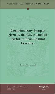 Complimentary banquet given by the City council of Boston to Rear-Admiral Lessoffsky PDF
