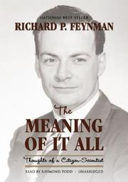Cover of: The Meaning of It All by Richard Phillips Feynman
