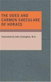Cover of: The Odes and Carmen Saeculare of Horace by Horace