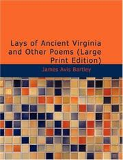 Lays of Ancient Virginia And Other Poems PDF