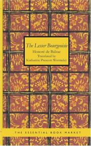 Cover of: The Lesser Bourgeoisie by Honoré de Balzac