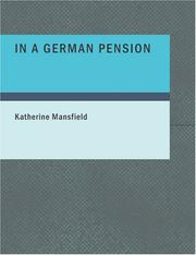Cover of: In a German Pension (Large Print Edition) by Katherine Mansfield