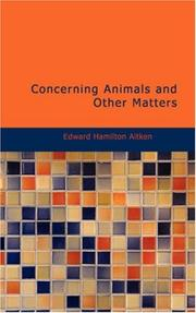 Concerning Animals and Other Matters PDF