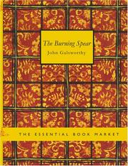 Cover of: The Burning Spear (Large Print Edition) by John Galsworthy