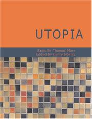 Cover of: Utopia (Large Print Edition) by Thomas More
