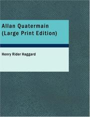 Cover of: Allan Quatermain (Large Print Edition) by H. Rider Haggard
