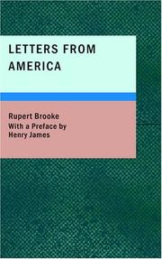 Letters from America by Brooke, Rupert