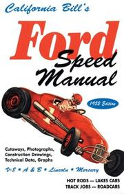 California Bill's Ford Speed Manual, 1952 Edition by B Fisher