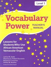 Vocabulary Power, Level 1