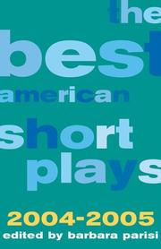 The Best American Short Plays 2004-2005 (Best American Short Plays) by Barbara Parisi