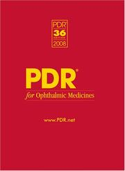PDR for Ophthalmic Medicines, 2008 (Physicians' Desk Reference (Pdr) for Ophthalmic Medicines) PDF