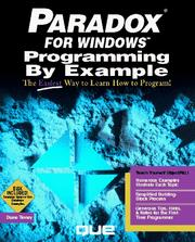 Paradox for Windows Programming by Example PDF