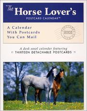 Horse Lovers 2003 Postcard Calendar PDF