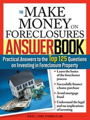 The Make Money on Foreclosures Answer Book PDF