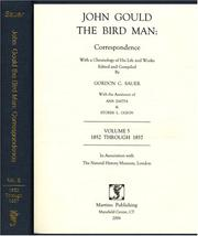 John Gould the Bird Man by Gordon C. Sauer