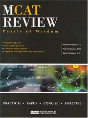 Cover of: MCAT Pearls of Wisdom by Michael, M.D. Donnino, Paul, Ph.D. Tischhauser, Robert, M.D. Donnino