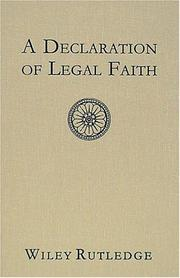 A declaration of legal faith PDF