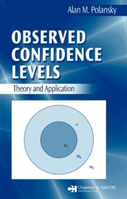 Cover of: Observed Confidence Levels by Alan M. Polansky