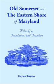 Old Somerset on the Eastern Shore of Maryland by William Lindsay Hopkins