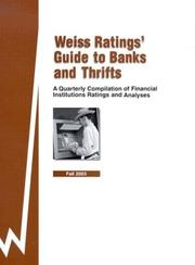 Weiss Ratings' Guide to Banks and Thrifts PDF