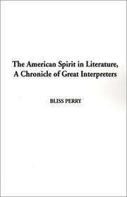 The American spirit in literature PDF