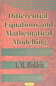 Differential Equations and Mathematical Modelling PDF